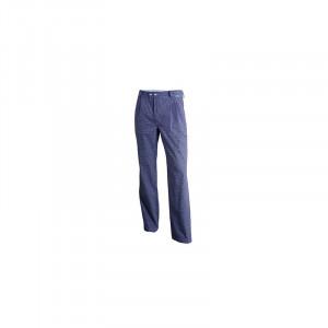Pantalon cuisine PIO3 Molinel 100% coton petits carreaux Blanc/Bleu