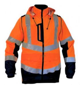 Blouson ILONA 3 haute visibilité Orange fluo/Marine CHATARD