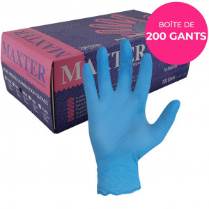 Boite 200 gants nitrile EN374 bleu