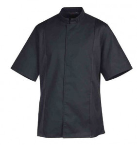 Veste de cuisine mixte manches courtes SIAKA MC P/C Noir ROBUR