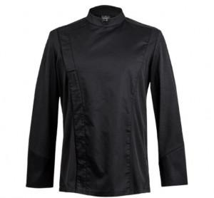 Veste de cuisine ML homme C-ONE noir manches longues