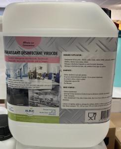 Bidon 5L dégraissant/désinfectant/virucide